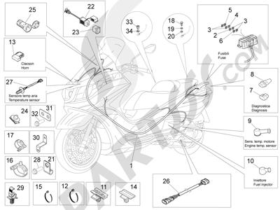 Piaggio X10 350 4T 4V I.E. E3 2012-2015 Grupo cables principal