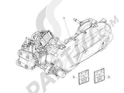 Piaggio X10 350 4T 4V I.E. E3 2012-2015 Motor completo