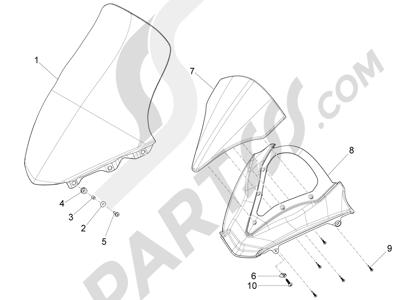 Piaggio X10 350 4T 4V I.E. E3 2012-2015 Parabrisas - Cristales