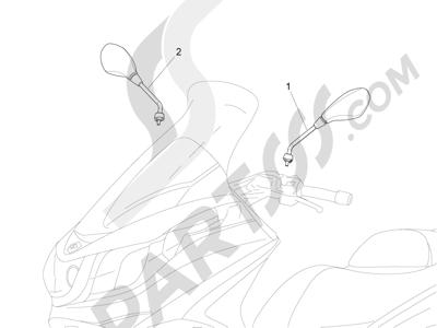 Piaggio X10 350 4T 4V I.E. E3 2012-2015 Retrovisor es