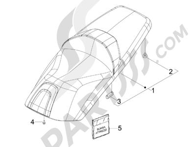 Piaggio X7 125 Euro 3 2008 Sillín asientos - Bolsa herramienta