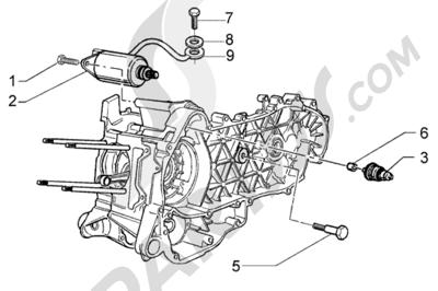 Piaggio X8 125 1998-2005 Arranque electrico