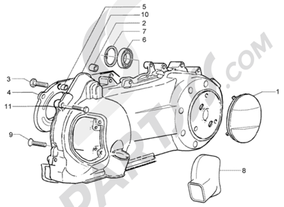 Piaggio X8 125 1998-2005 REFRIGERACION CARTER