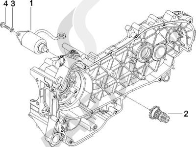 Piaggio X8 125 Potenziato 2005-2006 Arranque - Arranque electrico