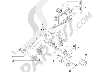 Piaggio X8 125 Potenziato 2005-2006 Brazo oscilante