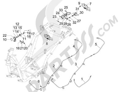 Piaggio X8 125 Potenziato 2005-2006 Cerraduras