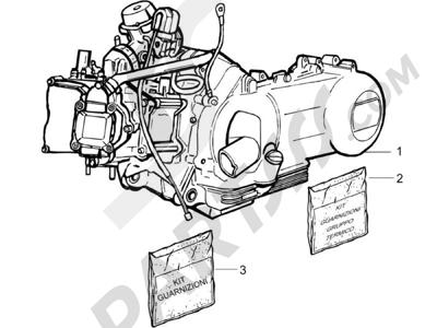 Piaggio X8 125 Potenziato 2005-2006 Motor completo