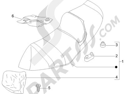 Piaggio X8 125 Premium Euro 3 2007 Sillín asientos - Bolsa herramienta