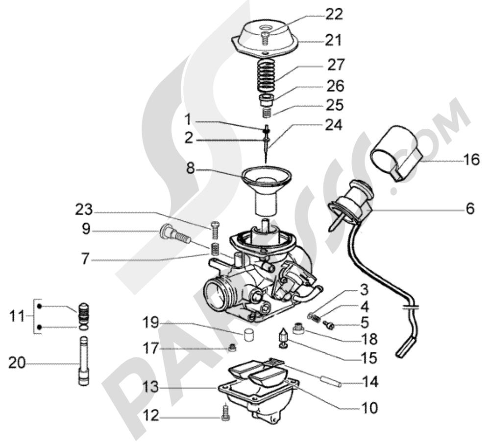 carburador piaggio x8 200 1998