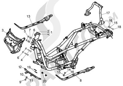 Piaggio X8 200 1998-2005 Chasis