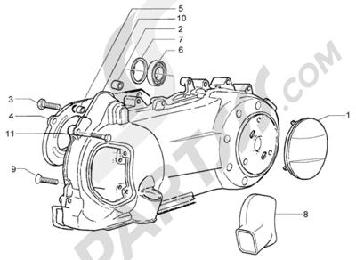Piaggio X8 200 1998-2005 REFRIGERACION CARTER