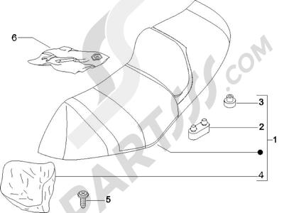 Piaggio X8 200 2005-2007 Sillín asientos - Bolsa herramienta