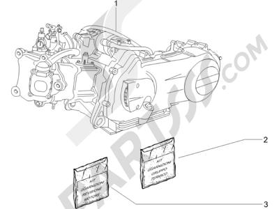 Piaggio X8 250 ie 2005-2008 Motor completo