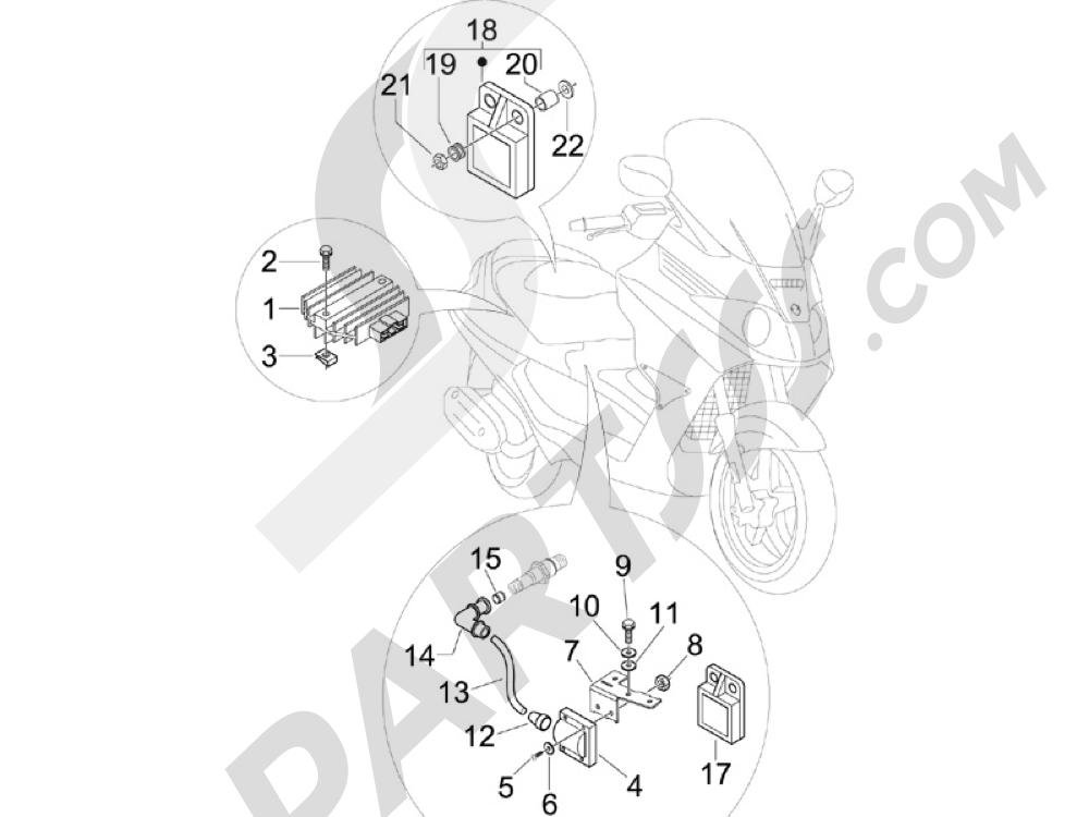 Piaggio X8 250 ie 2005-2008 Reguladores de tensión - Centralitas electrónicas - Bobina A.T.
