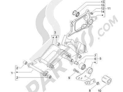 Piaggio X8 250 ie (UK) 2005-2008 Brazo oscilante