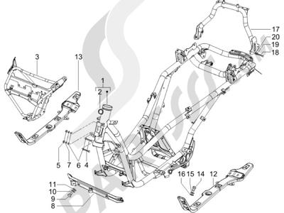 Piaggio X8 250 ie (UK) 2005-2008 Chasis carrocería