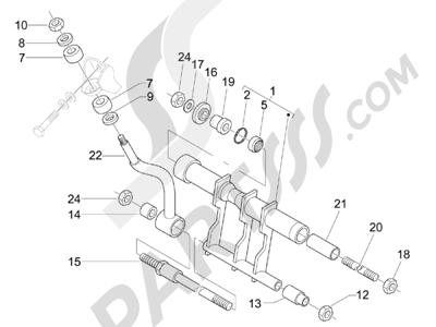 Piaggio X8 400 ie (Euro 3) (UK) 2006-2008 Bras oscillant