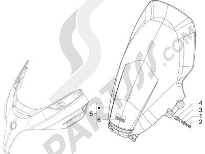 Piaggio X8 400 ie (Euro 3) (UK) 2006-2008 Pare-brise - Glaces