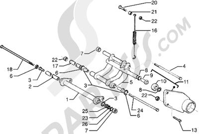 Piaggio X9 125 1998-2005 Brazo oscilante