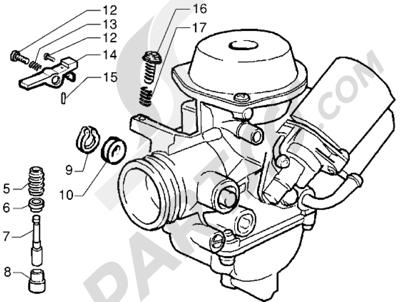 Piaggio X9 125 1998-2005 Carburador