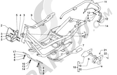 Piaggio X9 125 1998-2005 Chasis