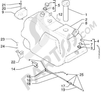 Piaggio X9 125 1998-2005 Tanque carburante