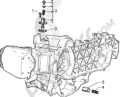 Piaggio X9 125 1998-2005 Tensor de cadena - Válvula by-pass