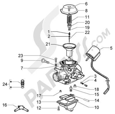 Piaggio X9 125 Evolution 1998-2005 Carburador