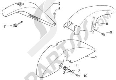 Piaggio X9 125 Evolution 1998-2005 Hueco rueda-guardabarros