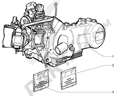 Piaggio X9 125 Evolution 1998-2005 Motor