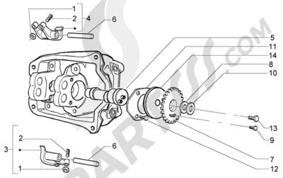 Piaggio X9 125 Evolution 1998-2005 Soporte brazo oscilante
