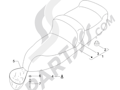 Piaggio X9 125 Evolution Euro 3 2007 Sillín asientos - Bolsa herramienta