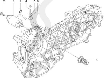 Piaggio X9 125 Evolution Euro 3 (UK) 2007 Arranque - Arranque electrico