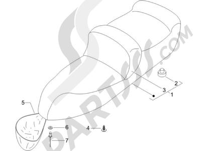 Piaggio X9 125 Evolution Euro 3 (UK) 2007 Sillín asientos - Bolsa herramienta