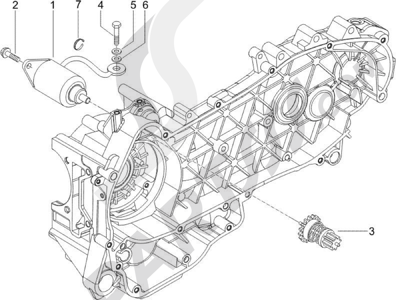 Piaggio X9 125 Evolution Potenziato (UK) 2007 Arranque - Arranque electrico