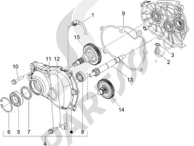 Piaggio X9 125 Evolution Potenziato (UK) 2007 Grupo reductor