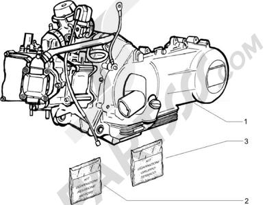 Piaggio X9 125 Evolution Potenziato (UK) 2007 Motor completo