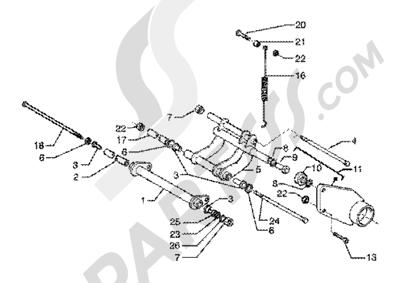 Piaggio X9 125 SL 1998-2005 Brazo oscilante