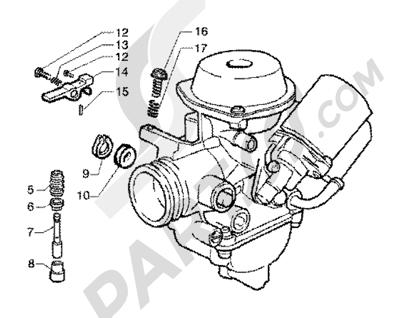 Piaggio X9 125 SL 1998-2005 Carburador