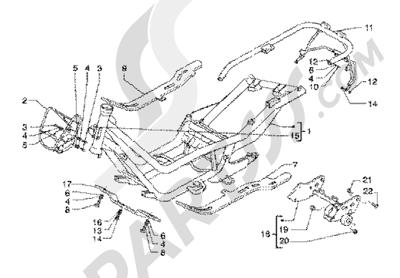 Piaggio X9 125 SL 1998-2005 Chasis