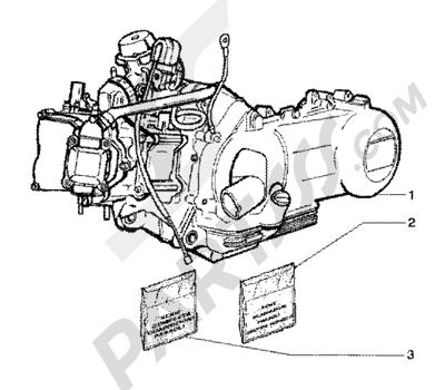 Piaggio X9 125 SL 1998-2005 Motor