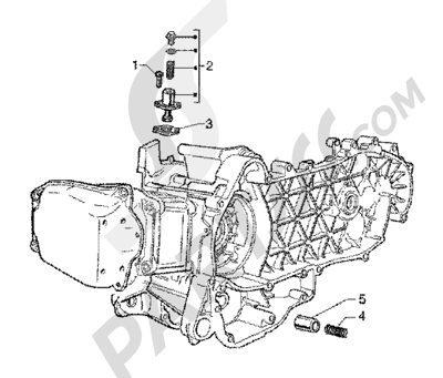 Piaggio X9 125 SL 1998-2005 Tensor de cadena-valvula by-pass