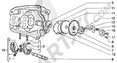 Piaggio X9 180 Amalfi 1998-2005 Soporte brazo oscilante