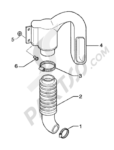 Piaggio X9 200 1998-2005 Belt cooling tube-intake tube