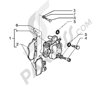 Piaggio X9 200 1998-2005 Brake calipers