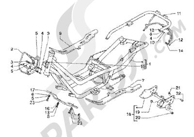 Piaggio X9 200 1998-2005 Chassis