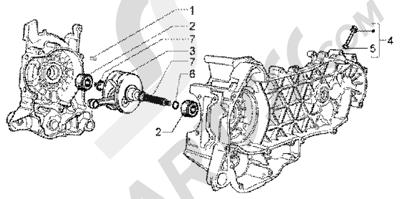 Piaggio X9 200 1998-2005 Crankshaft