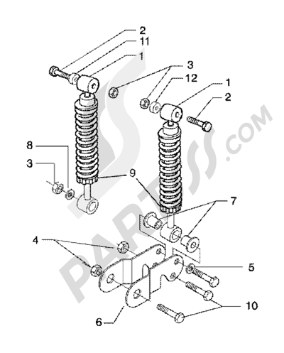 Piaggio X9 200 1998-2005 Dampers