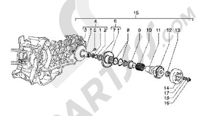 Piaggio X9 200 1998-2005 Driven pulley