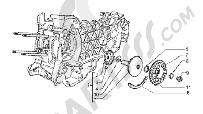 Piaggio X9 200 1998-2005 Driving pulley